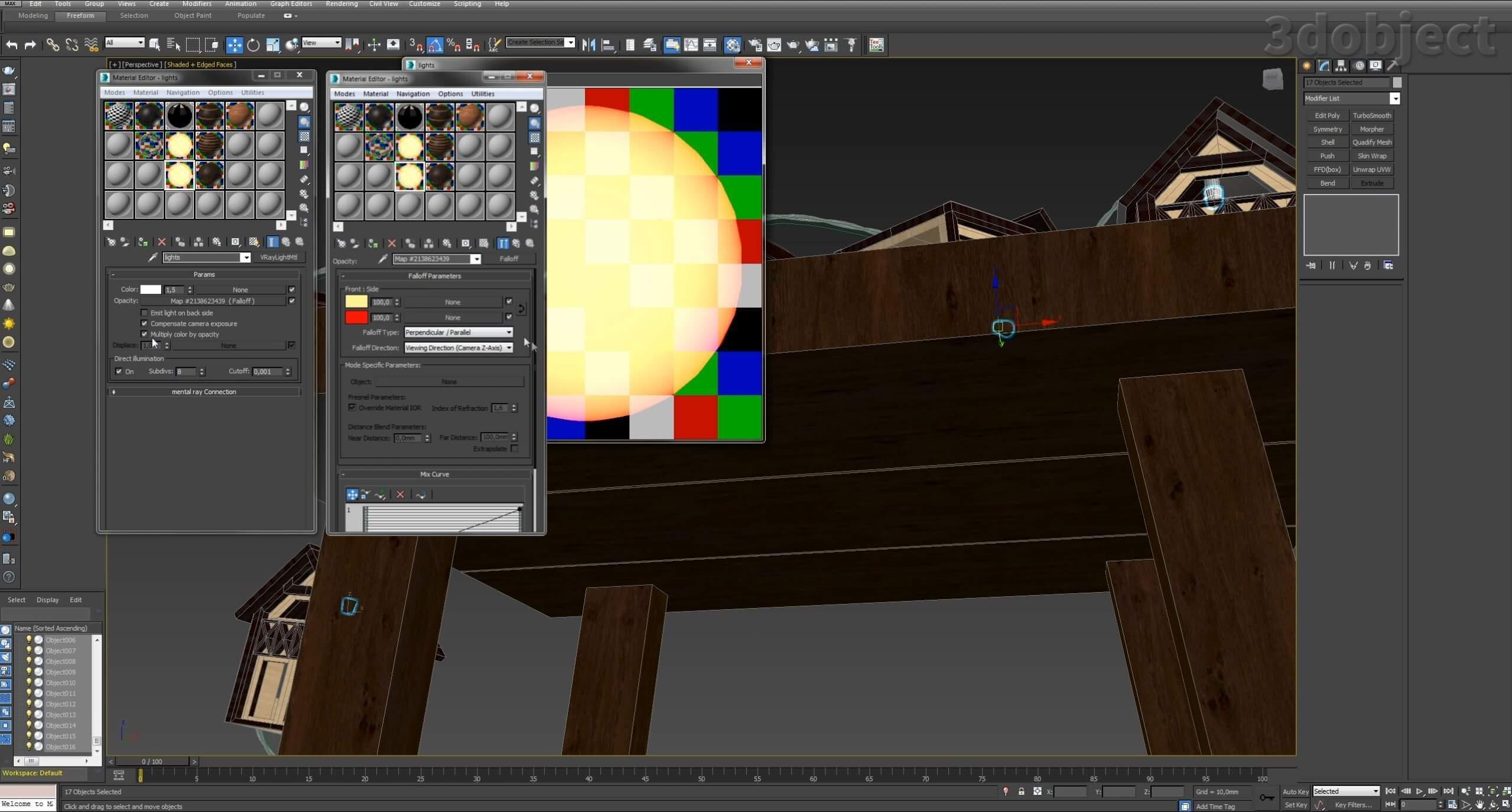 Моделирование домиков для гирлянды вы можете посмотреть в видео – Моделирование дома за 5 минут. В этом видео вы увидите, как смоделировать проводку для гирлянды из сплайнов с помощью модификатора Loft_2