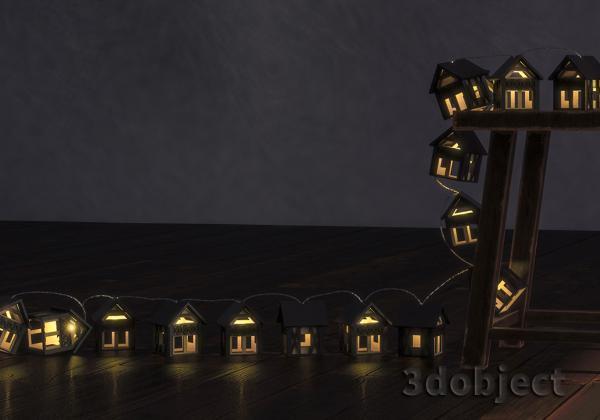 Моделирование гирлянды «Домики Фахверк» в 3ds Max