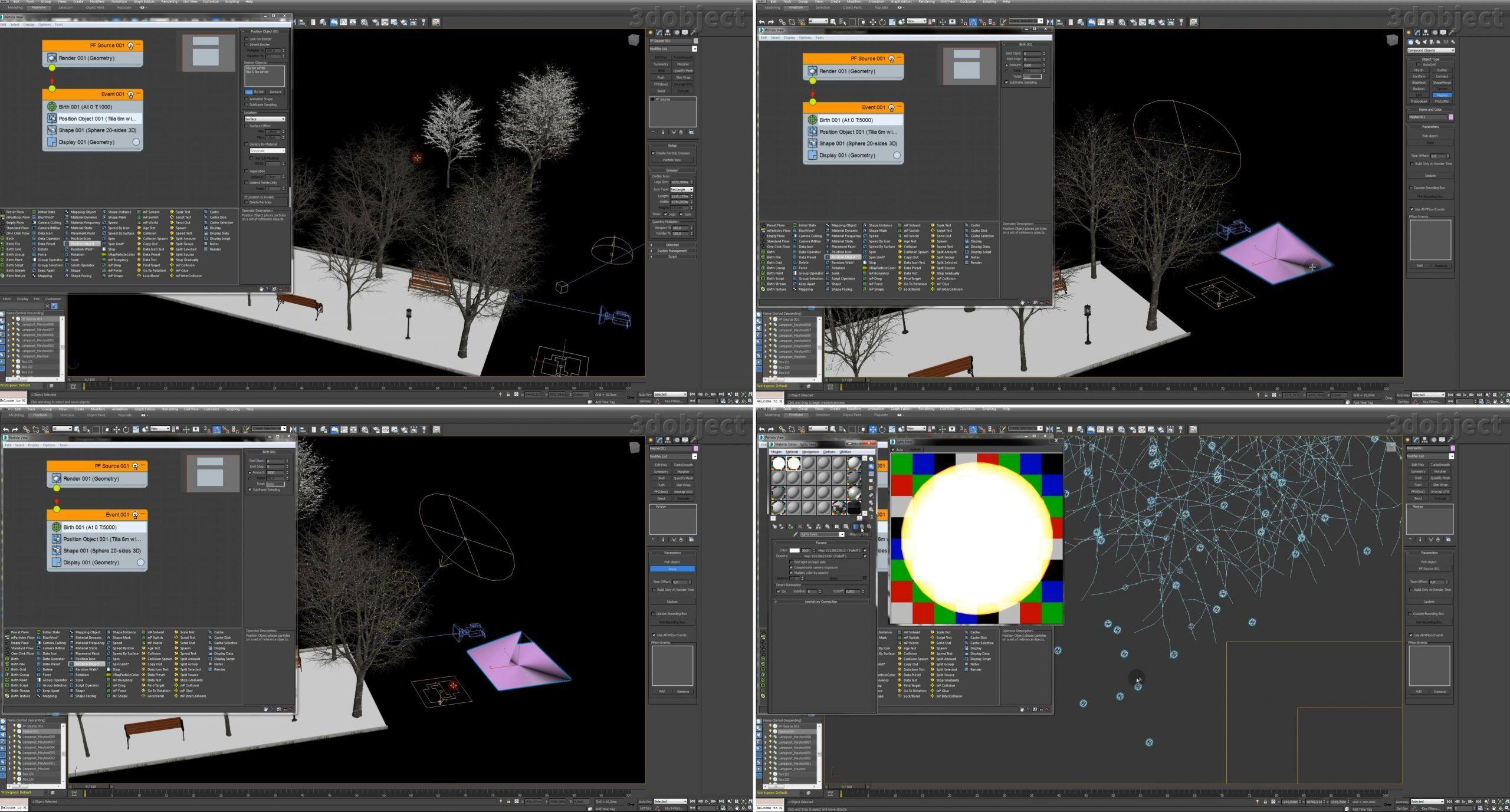 Создание зимней аллеи в 3dsMax_9