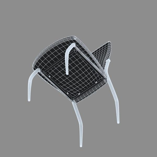 3d модель кухонного стула Aurora Bianco_4