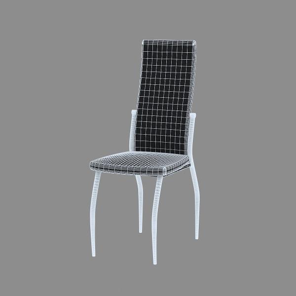 3d модель кухонного стула Aurora Bianco_3