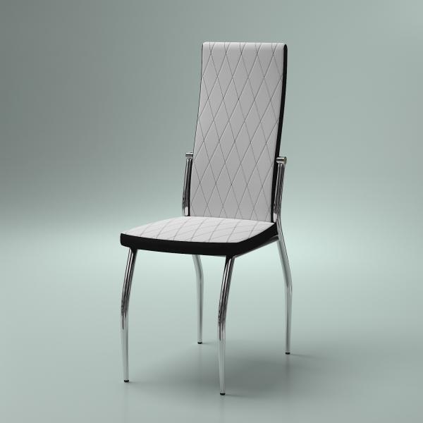 3d модель кухонного стула Aurora Bianco_1
