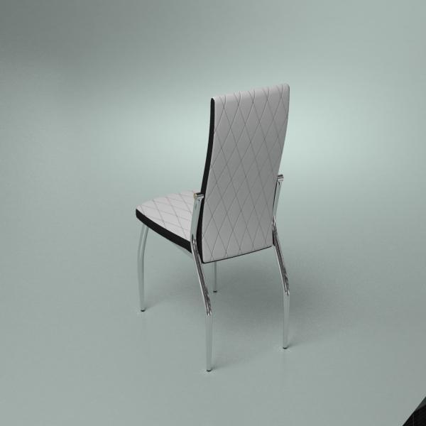 3d модель кухонного стула Aurora Bianco_2