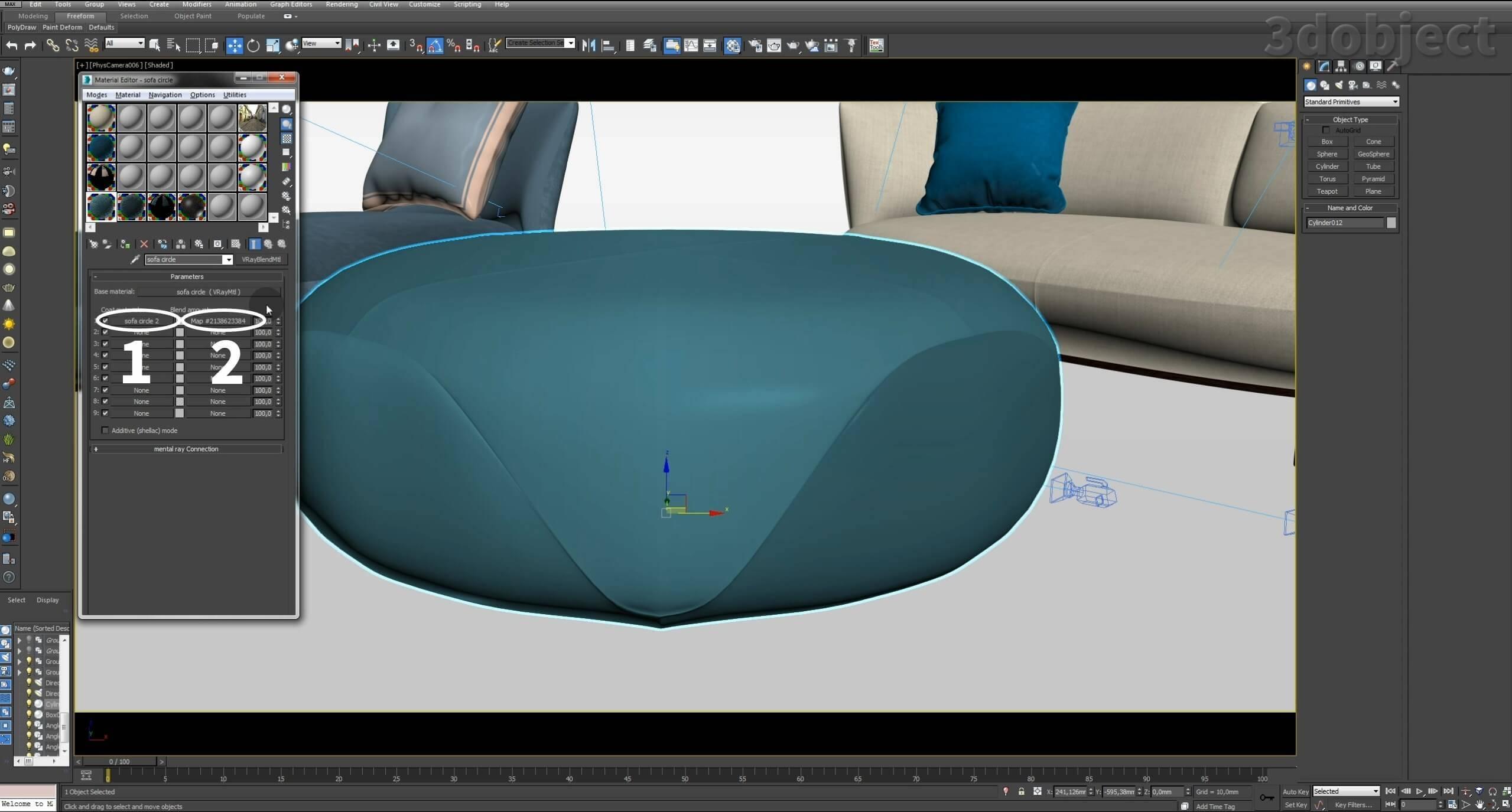 Создание vray материала. 3d визуализация. 3d max урок_2