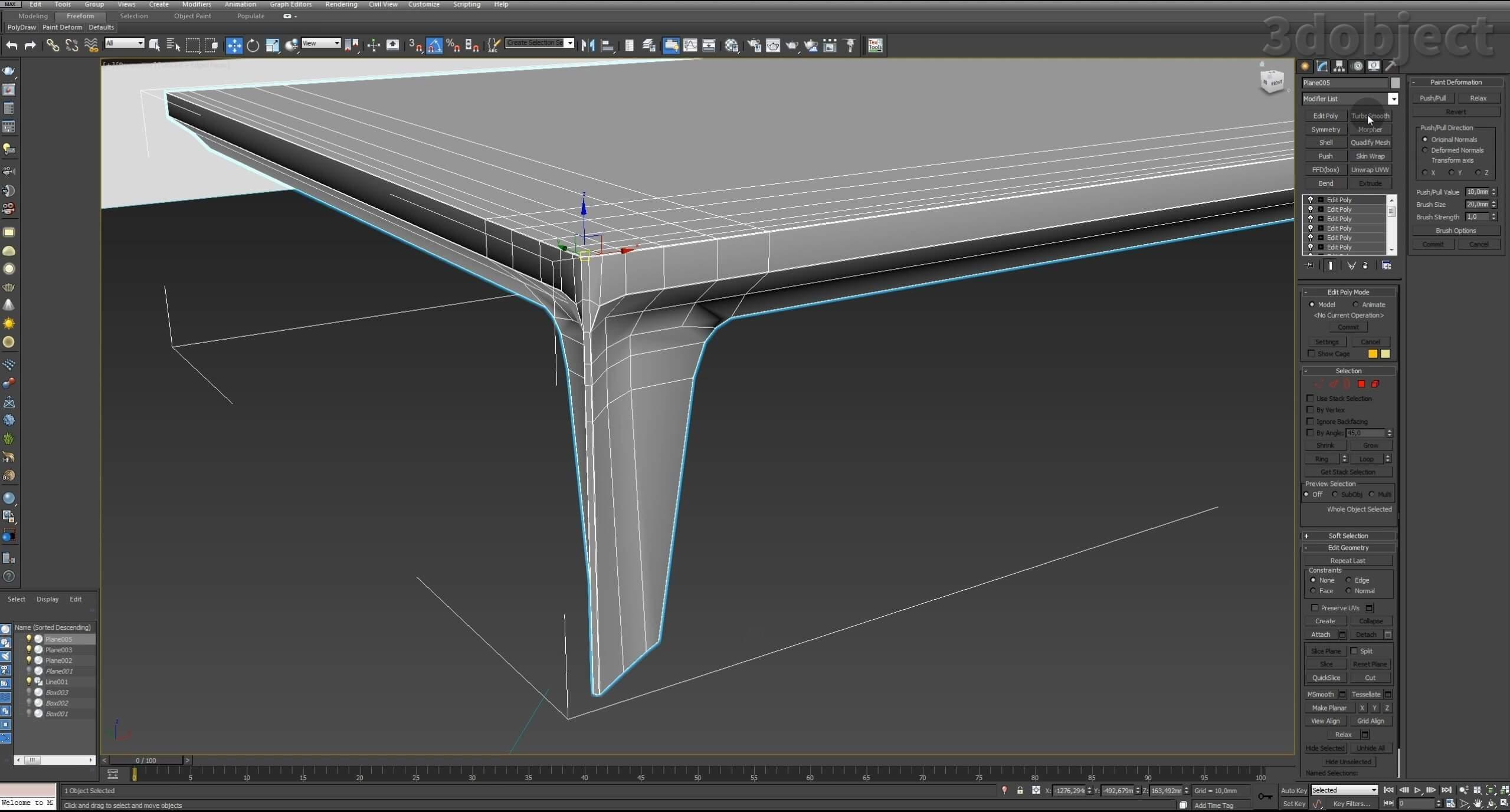Моделирование в 3d max – урок моделирования дивана_2