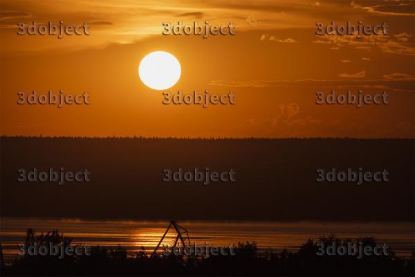 фото заката в городе Пермь