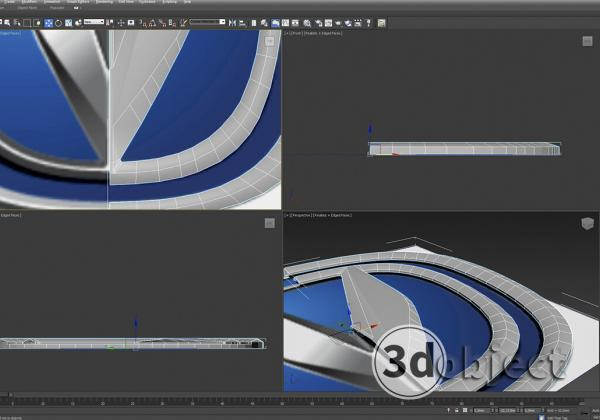 Моделирование логотипа changan в 3d max